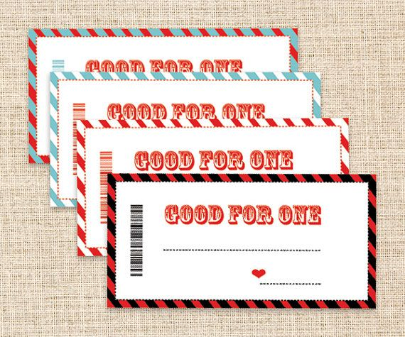 Printable Coupons  FatherS Day Gift  Blank Coupons  Love