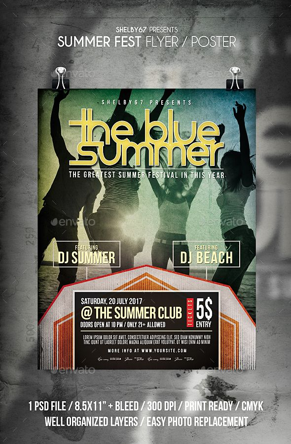 Summer Fest Flyer / Poster. #acoustic #band #BeachParty #club #concert #dj #event #EventFlyer #festival #flyer #gig #indie #IndieBand #IndieFlyer #LiveDj #love #music #night #party #poster #PrintTemplate #romantic #summer #SummerEvent #SummerMusic #SummerParty #SummerSession #typography