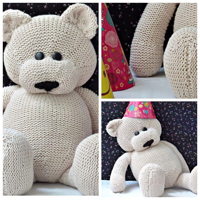 knitted teddy bear #teddybear #knittingteddy # ...