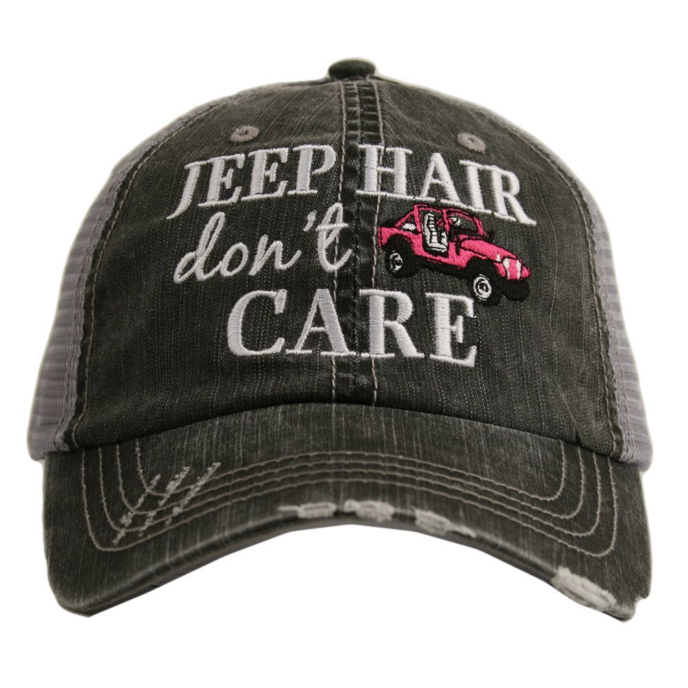 815cad4f9 Jeep Hair Don't Care Trucker Hat | Gecko Life | Red jeep, Jeep, Jeep ...