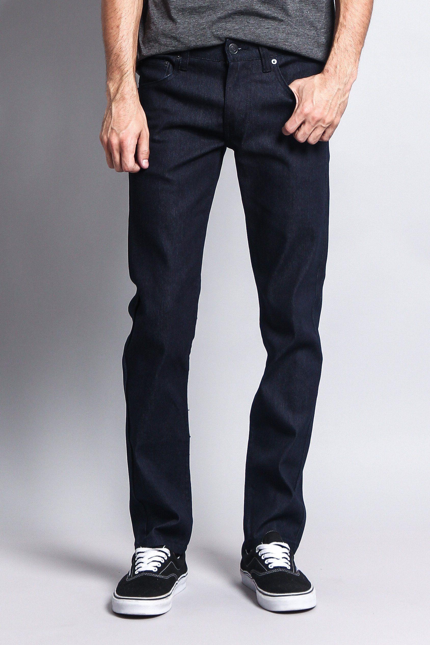 Men's Skinny Fit Raw Denim Jeans DL938 (Indigo)