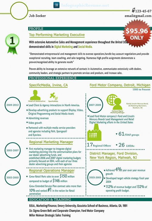 Pin By Infographic Resume On Digital Marketing Resume Example