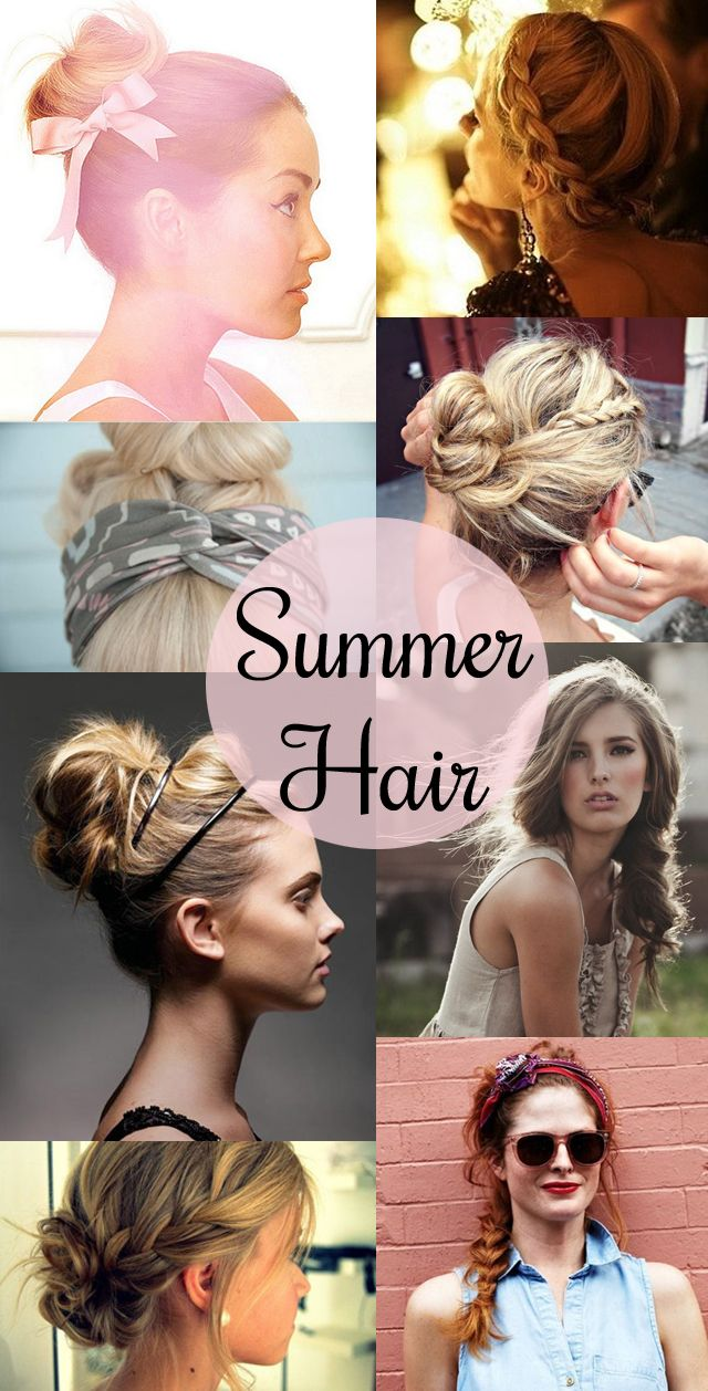 Easy summer hairstyles cute things to do to your hair pinterest