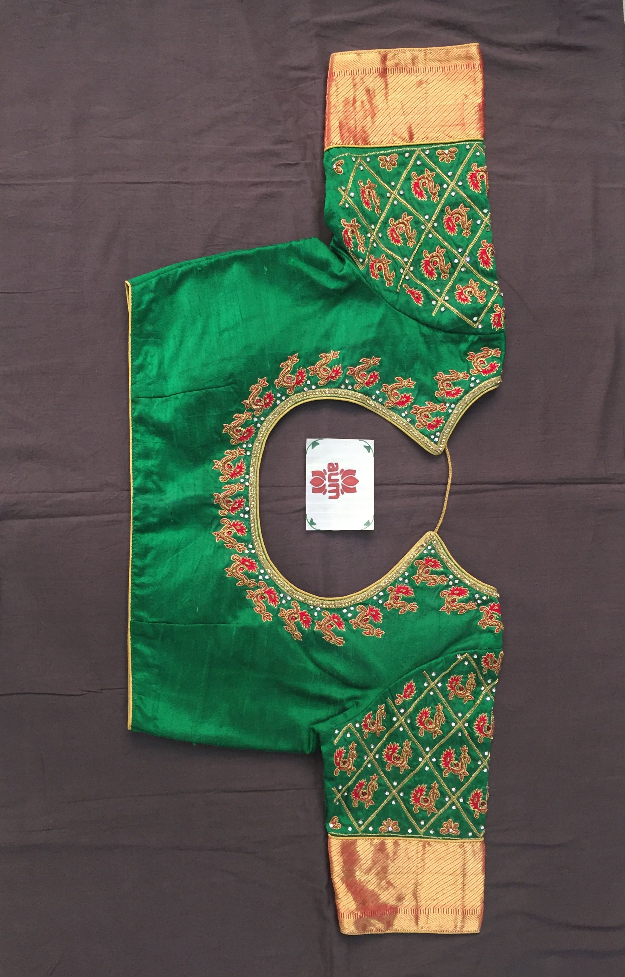 Silk saree blouse designs without embroidery pin by thanvi reddy on bridal blouses  pinterest  blouse designs