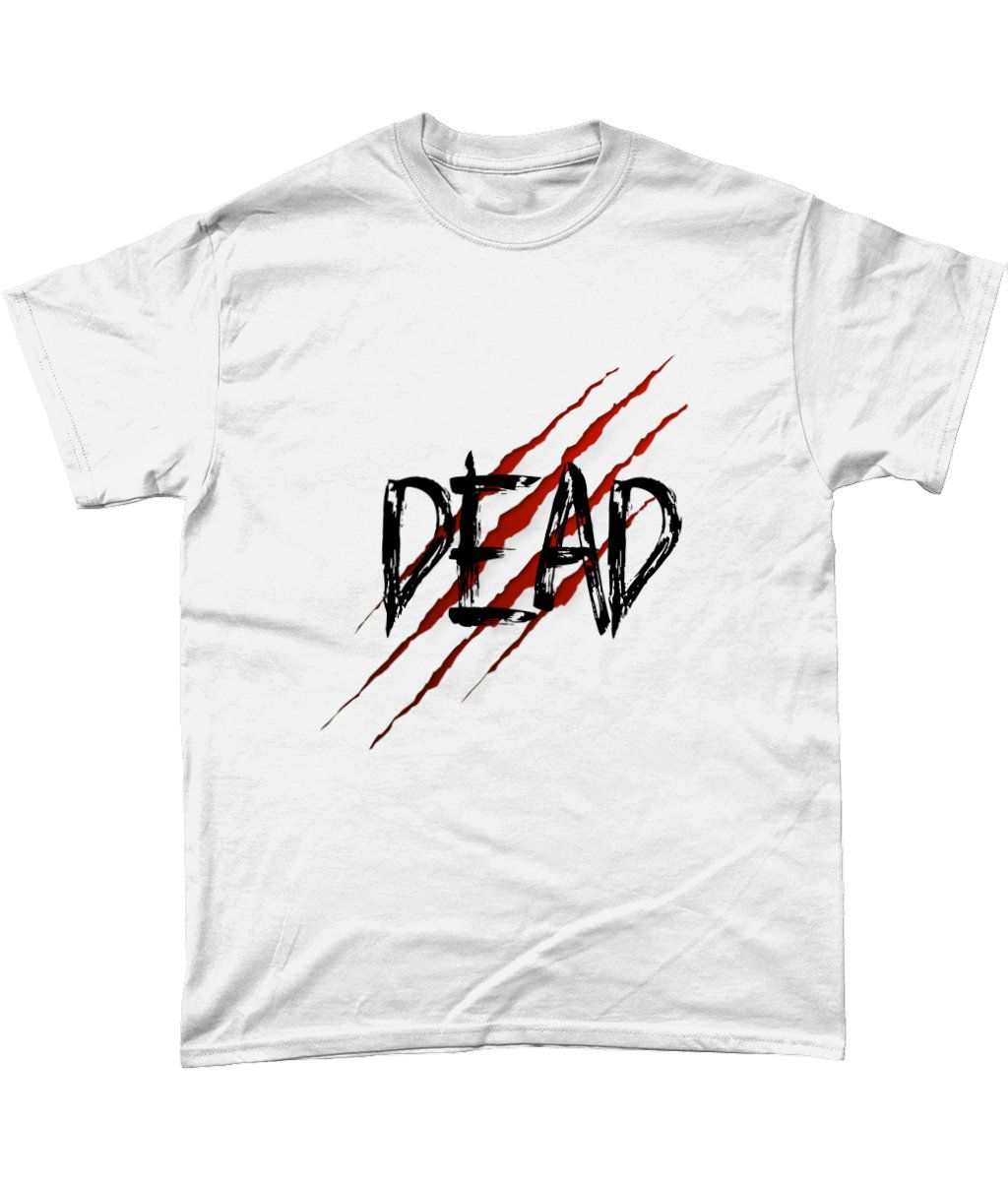 DEAD, Gothic, Emo style  grunge  Heavy Cotton T-Shirt, dead inside #emoclothing #gothic #gothicfashion #zombie #zombieland #zombieapocalypse #tees  #teeshirts #dead #deadinside