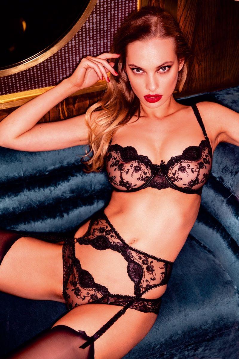 af91ee054247 Dioni Tabbers fronts Honey Birdette London Calling lingerie campaign