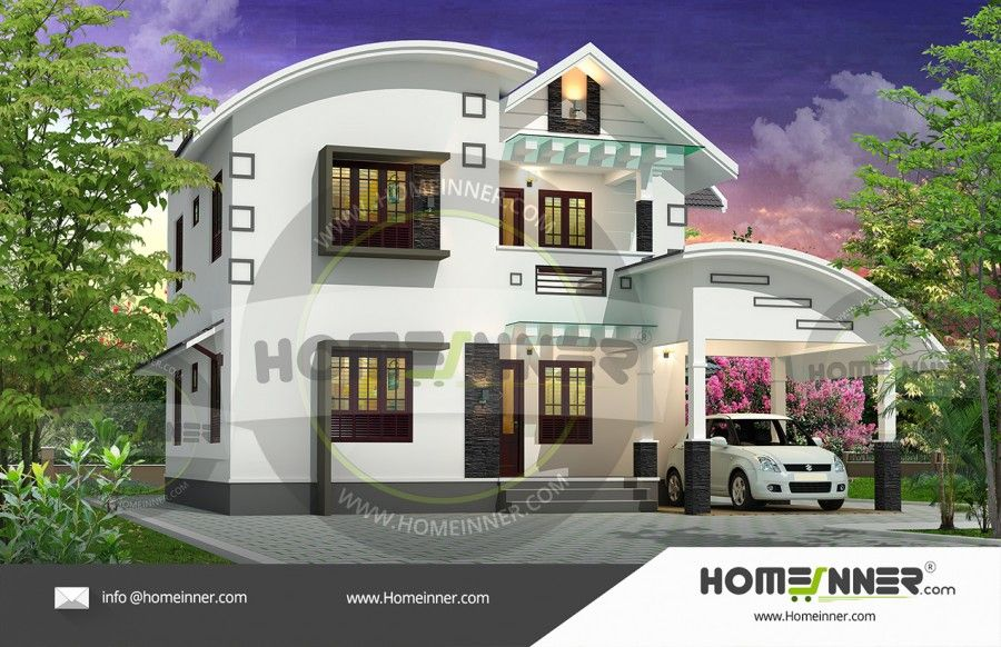 Sq ft bedroom stunning home plan kerala house design indian also bhk affordable exterior designs rh pinterest