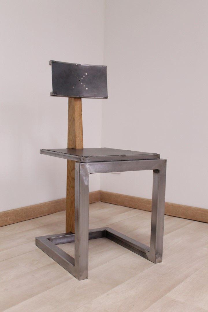 Chaise Metal Bois Mobilier De Salon Chaise Metal Idees De Meubles