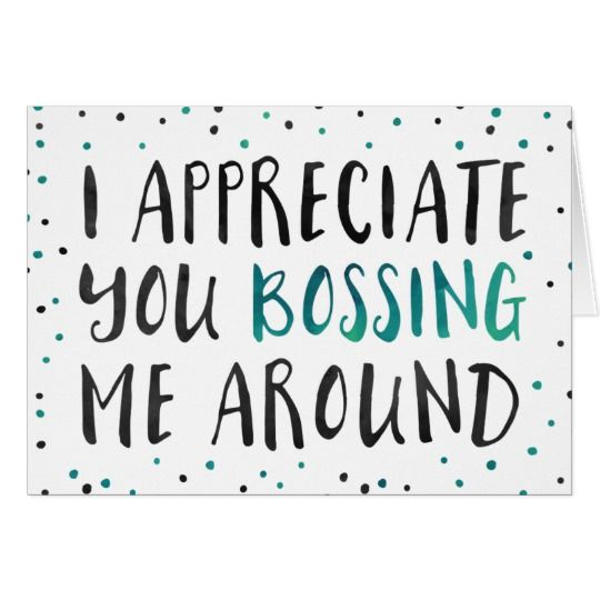 Boss's Day Greeting Card   Zazzle.com
