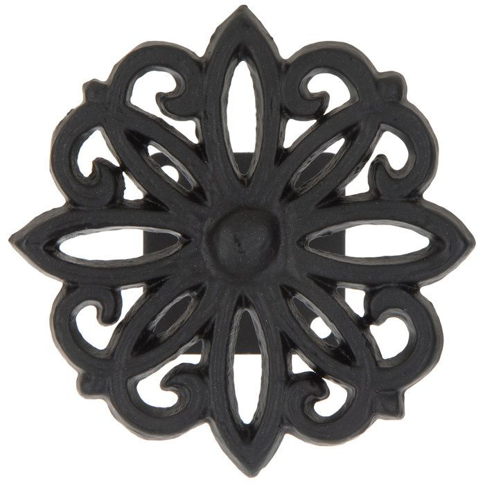 Get Black Flower Weave Metal Tieback Online Or Find Other Curtains