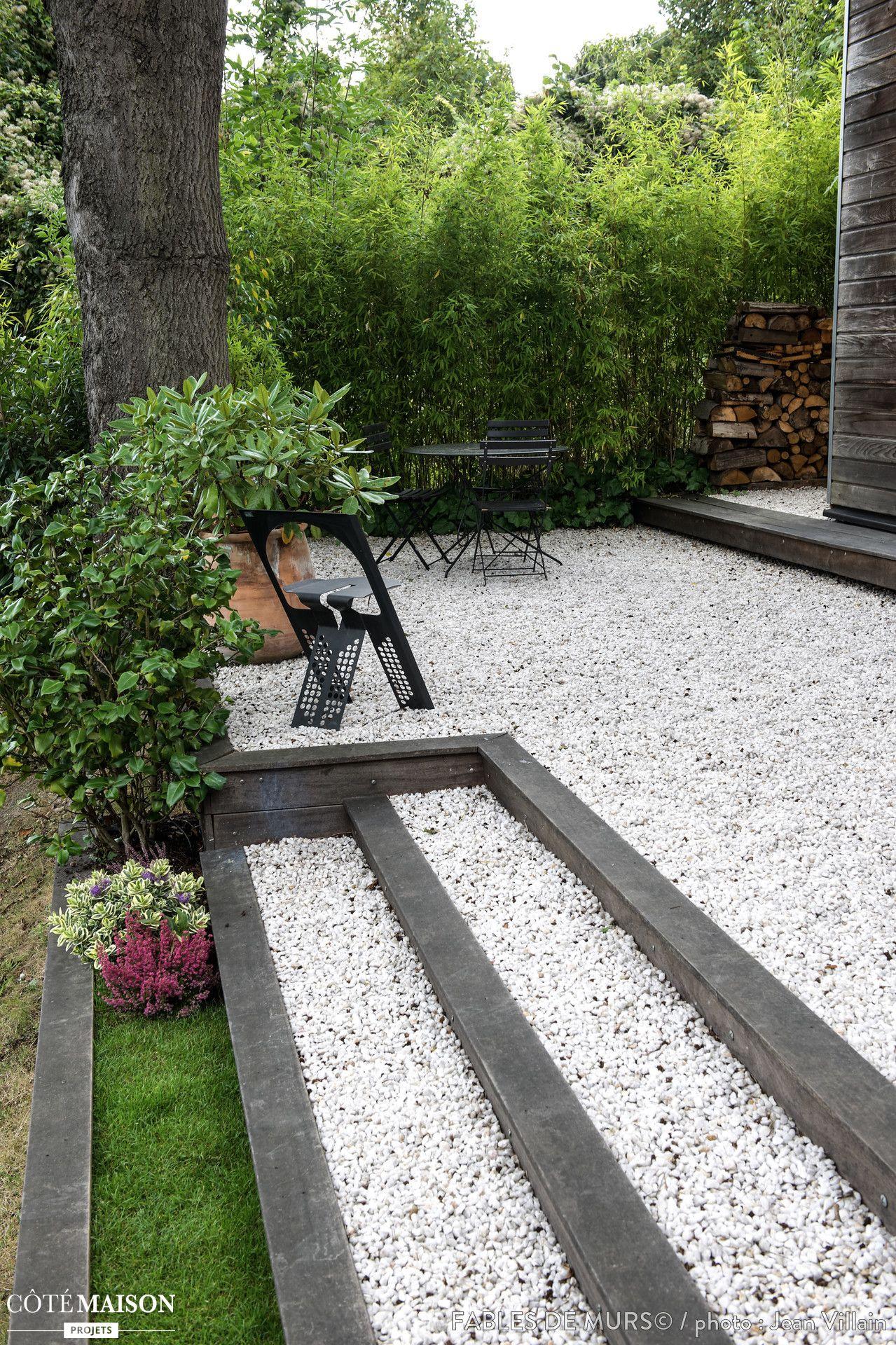 Amenagement Exterieur D Une Maison Amenagement Jardin Cailloux Escalier De Jardin Terrasse Gravier