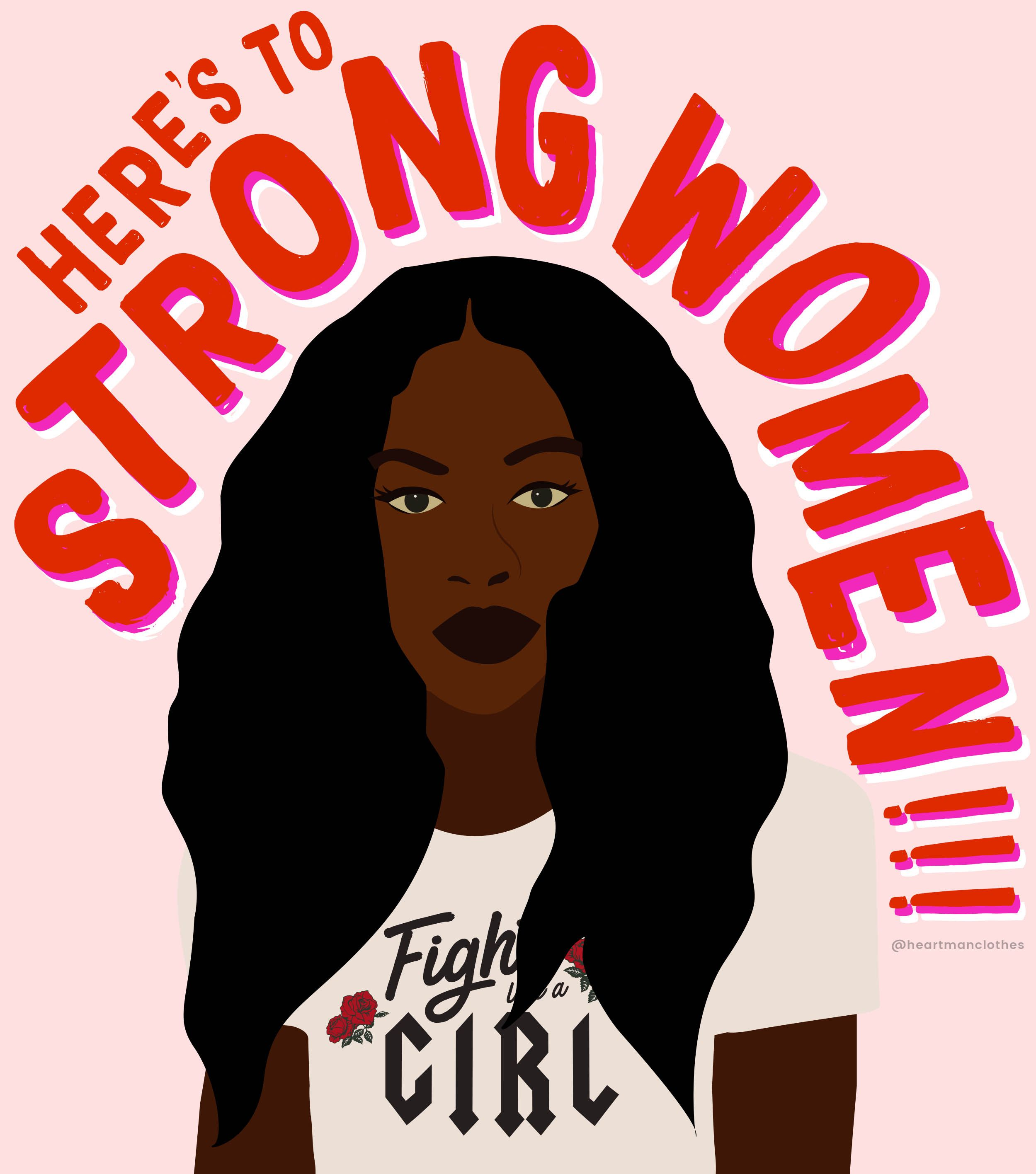 Heres to strong women! Free printable feminist wall art ...