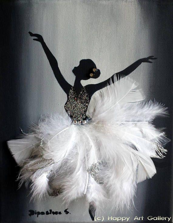 Swan Ballerina – cadeau pour chambre d'enfant décor chambre d'enfant décor de chambre …