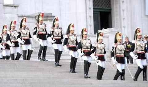 La parata di corazzieri per la festa della Repubblica