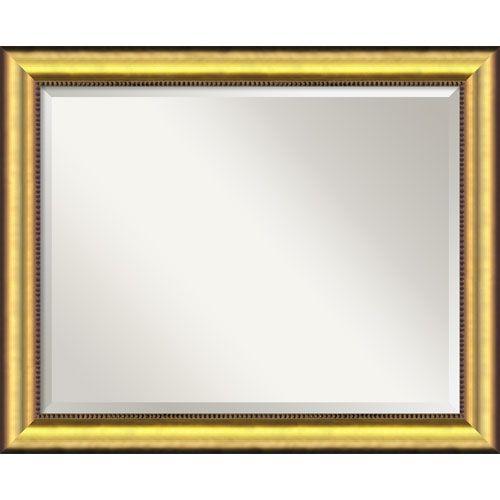 Amanti Art Vegas Burnished Gold Wall Mirror - Large | Gold wall ...