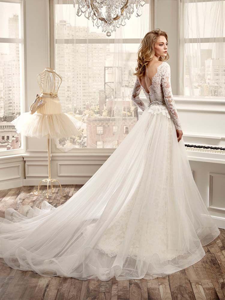 Nicol Spose Wedding Dress 2015 Gorgeous Illusion Long Sleeves V Neck Mermaid