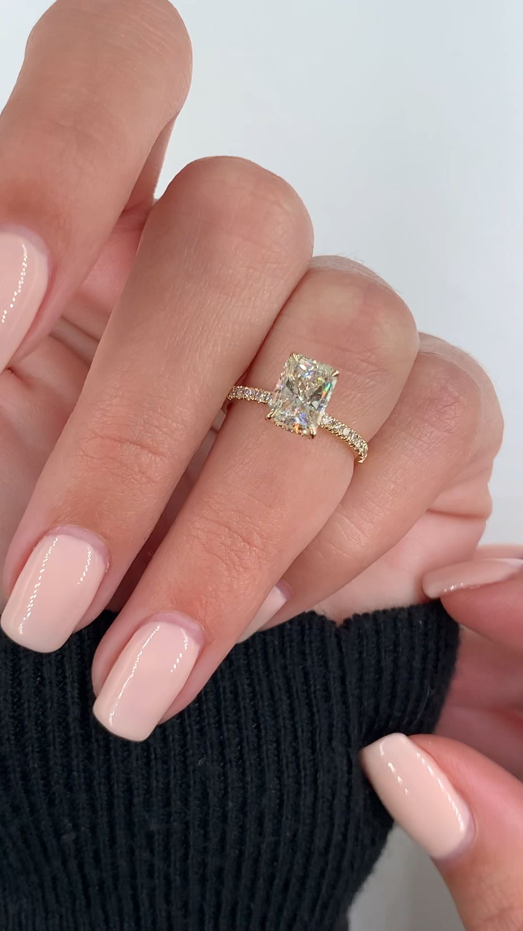 Photo of Gorgeous radiant cut engagement ring
