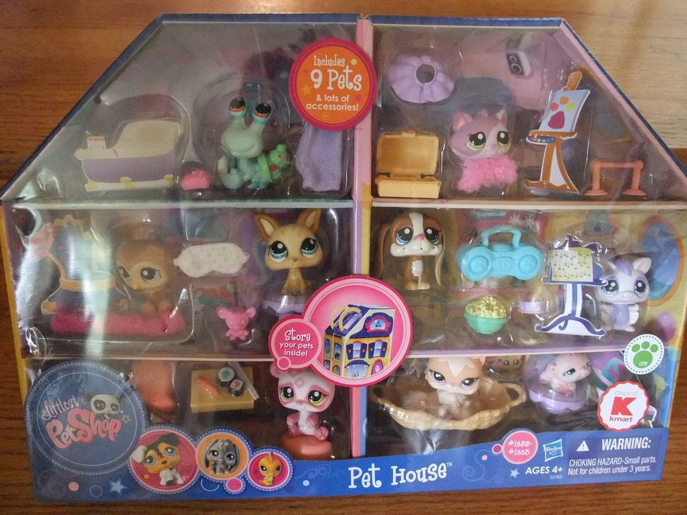 Nib Littlest Pet Shop Pet House Playset By Hasbro 1655 1663 9 Pets Accessories Littlest Pet Shop Pet Shop Pets
