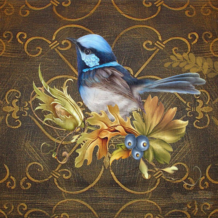 Картинки с животными и птицами для декупажа