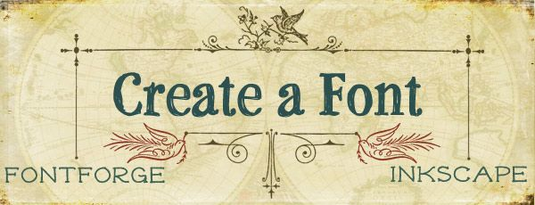 How to create a font with fontforge & inkscape