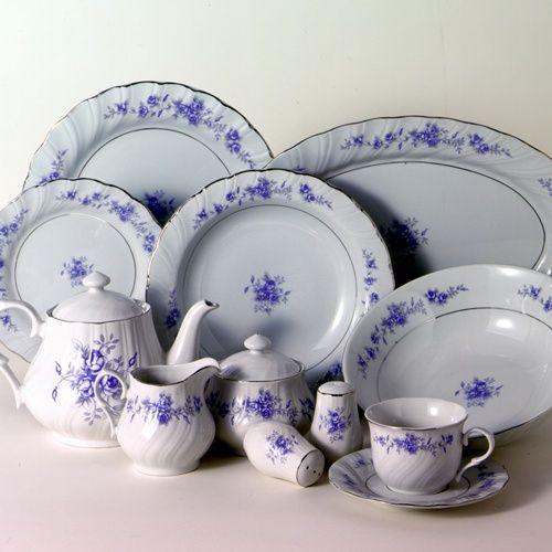 Blue Rose Inexpensive Tea Set Teasets Quantity Bulk Discount