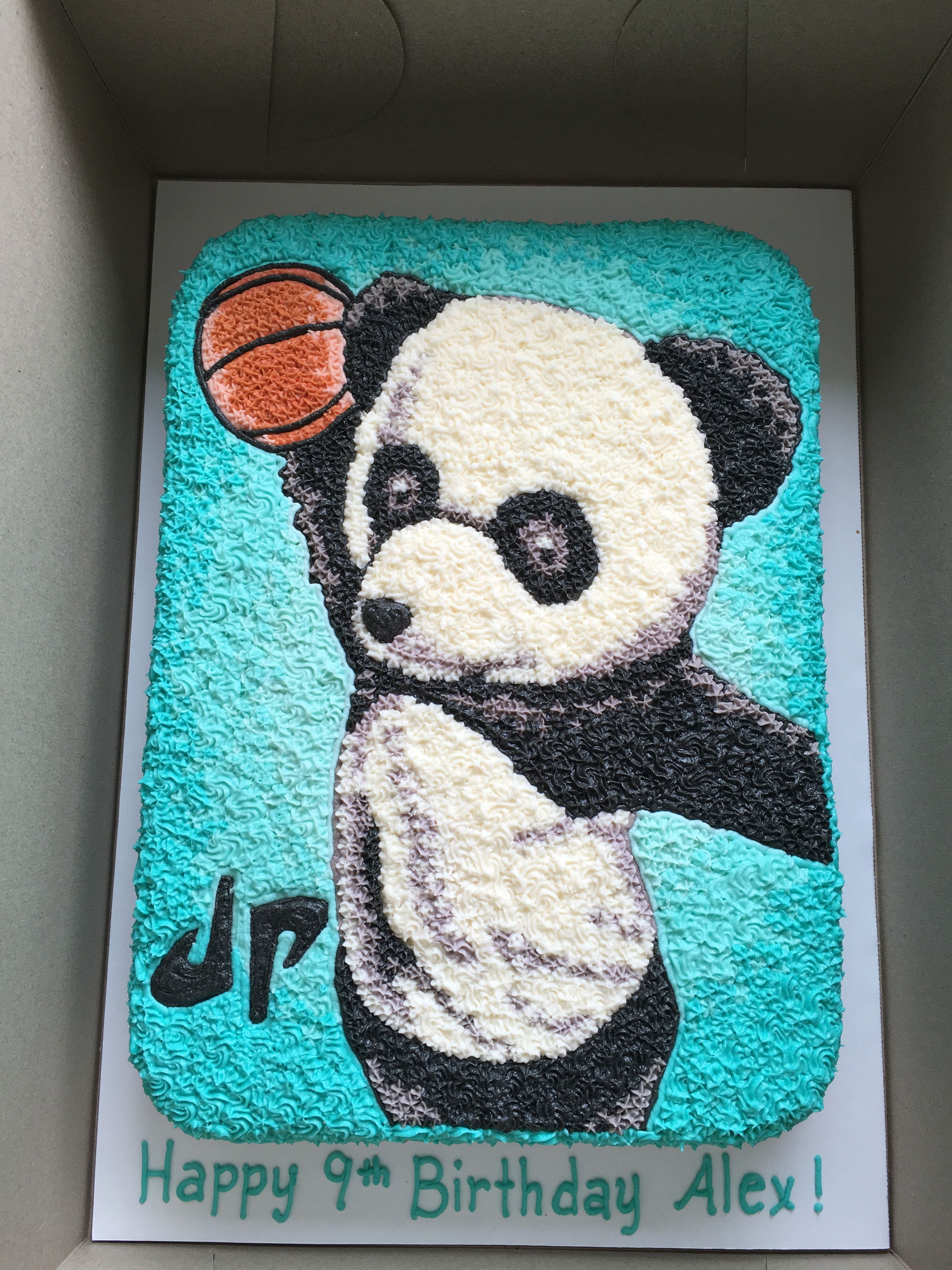 DUDE PERFECT Panda Birthday Party Frosting Cake Topper 1//4 sheet