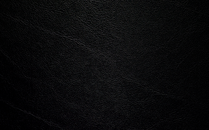 Download wallpapers black leather, 4k, leather texture