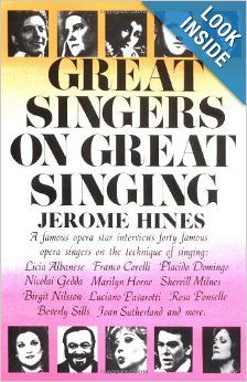 great singers on great singing a famous opera star interviews 40
