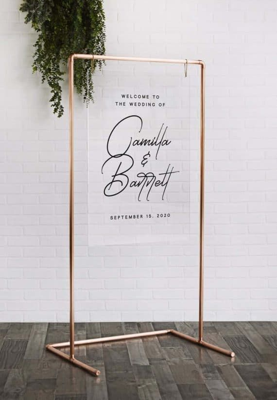 Where to Buy Copper Pipe Wedding Frame for Ceremony + Reception
