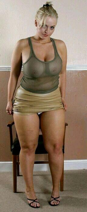 Fat women upskirt