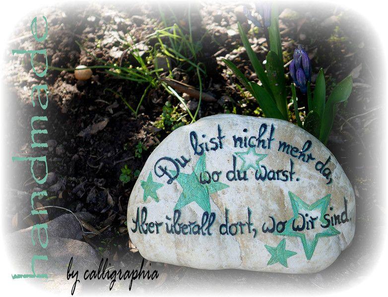 Trauer & Beileid - MUSTER Sternenkind Gedenkstein mit Sternen - ein Designerstück von calligraphia bei DaWanda