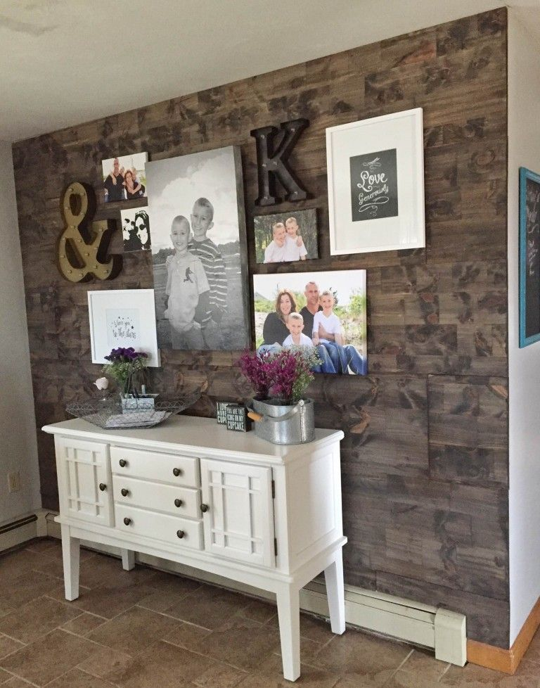 How To Fake A Reclaimed Wood Accent Wall