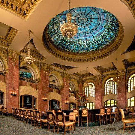 Camino Real El Paso Hotel Tiffany Stained Glass Dome That