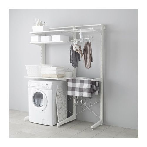 laundry room ikea - algot, post/foot/drying rack | addition