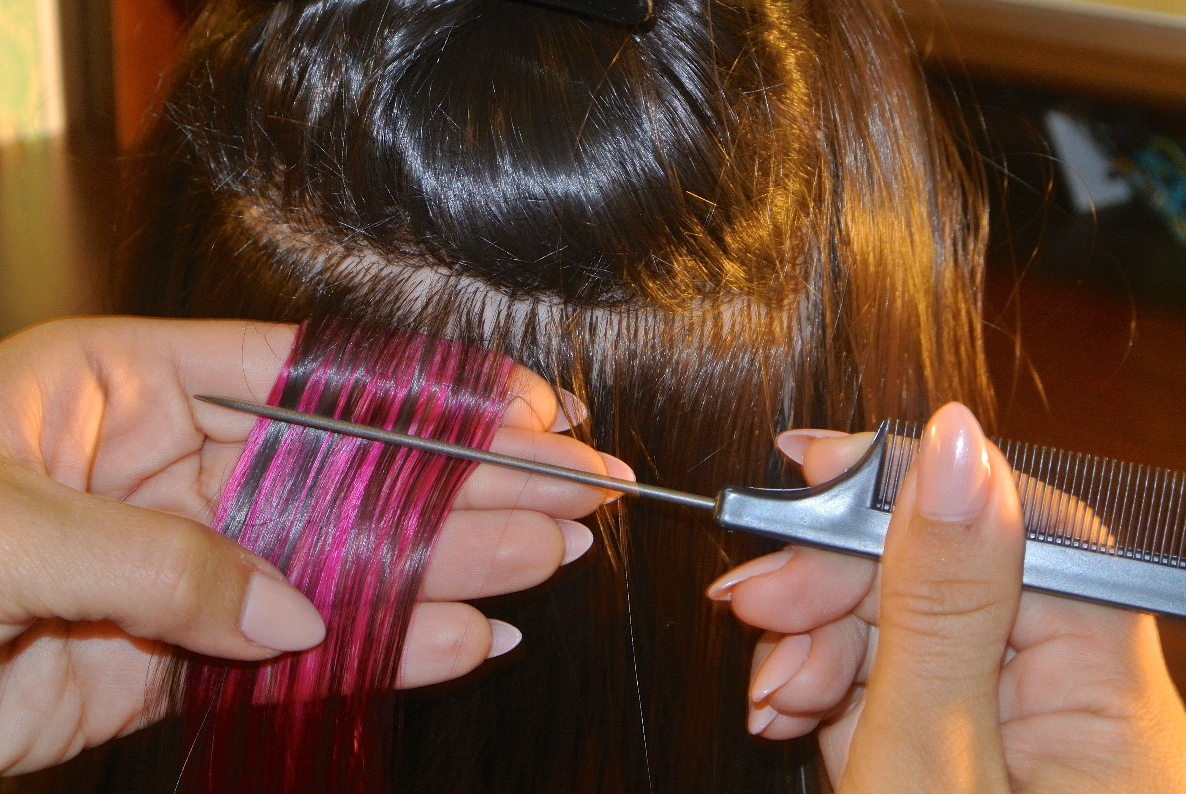 Glam seamless tape in hair extensions are so quick and easy to apply