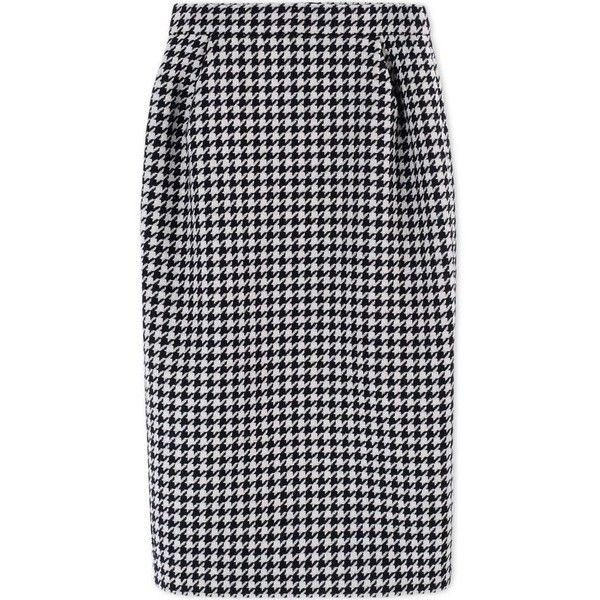 4272abb8adf48 Max Mara Houndstooth Wool & Cashmere Pencil Skirt (2,420 ILS ...