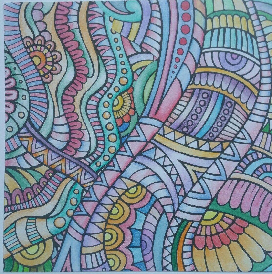 Kleurboek Inspiratie Kaarten Gekleurd Met Koh I Nor Potloden Kleurboek Kleuren Kaarten