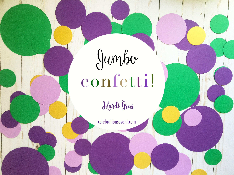 Confetti, SUPER JUMBO, Mardi Gras, Saints, Circles, party confetti ...