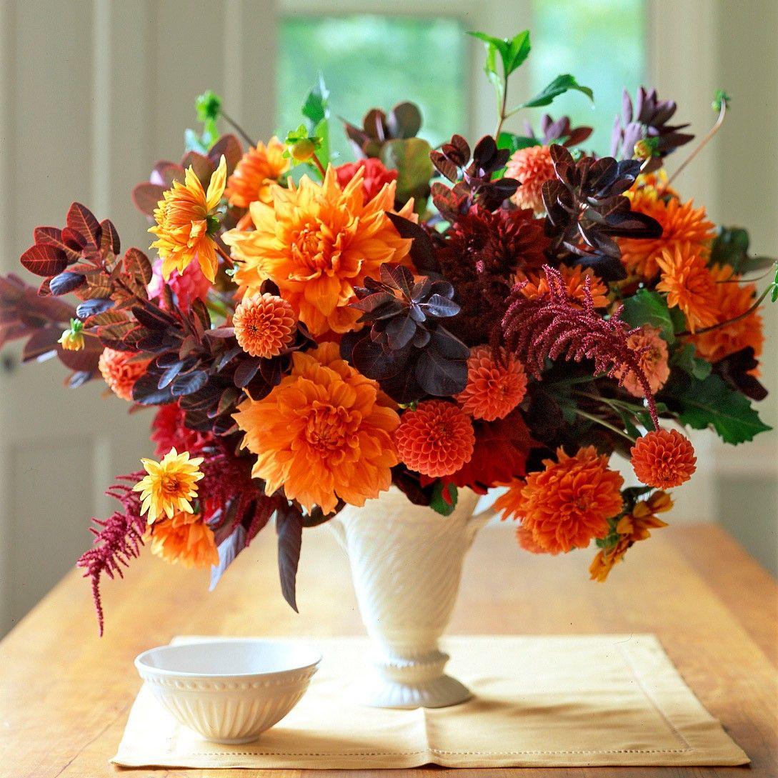 Beautiful Flower Arrangements For Weddings: Orange Flower Arrangements