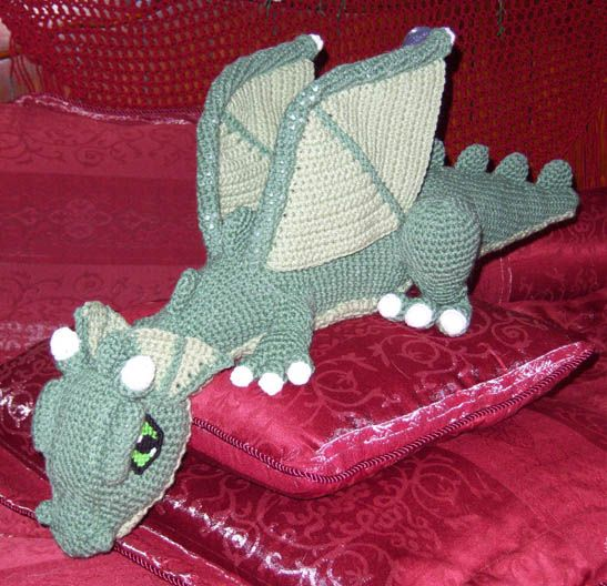 April Draven: Cosmo the Crochet Dragon. Maybe could adapt him into a Toothles...