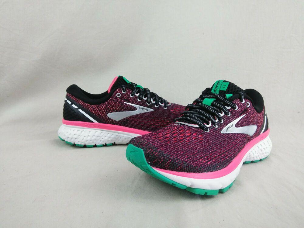 Brooks Ghost 11 Black/Pink/Aqua Running
