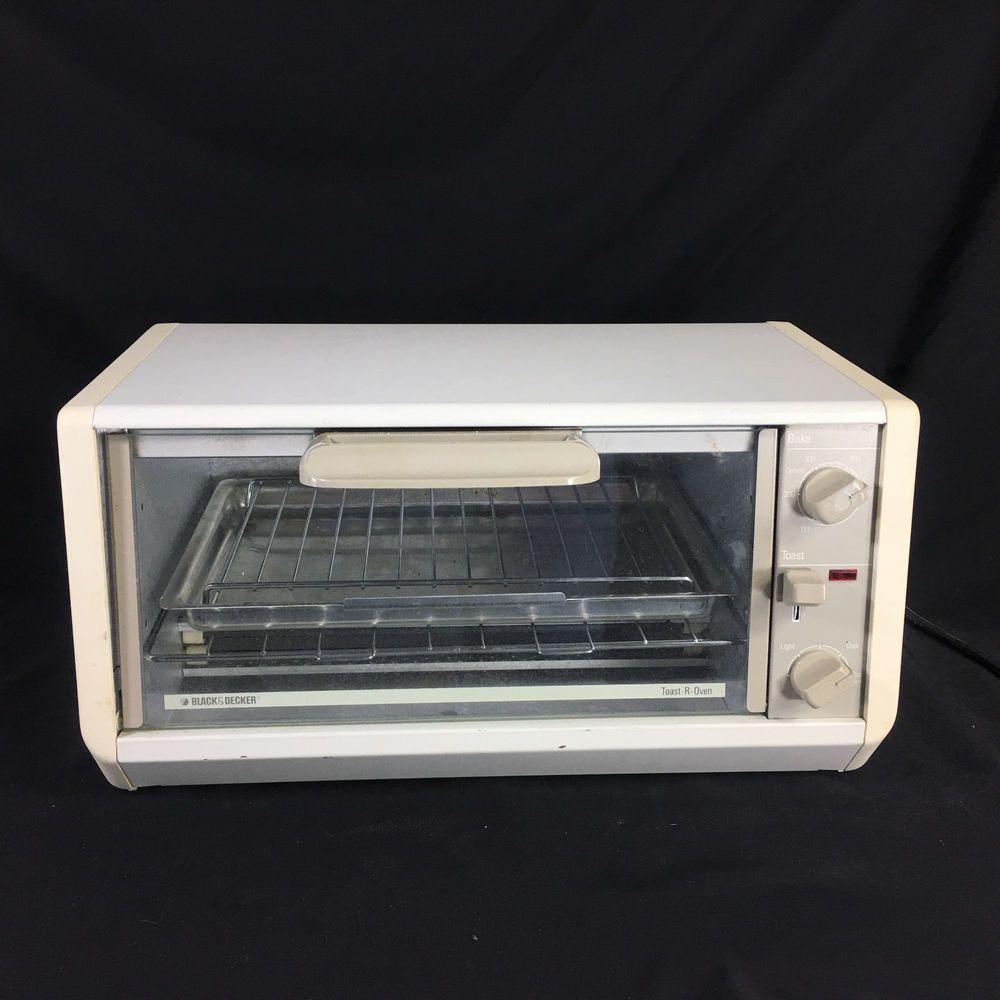 Black Decker Spacemaker Toaster Oven Tro 200 Beige Under Cabinet