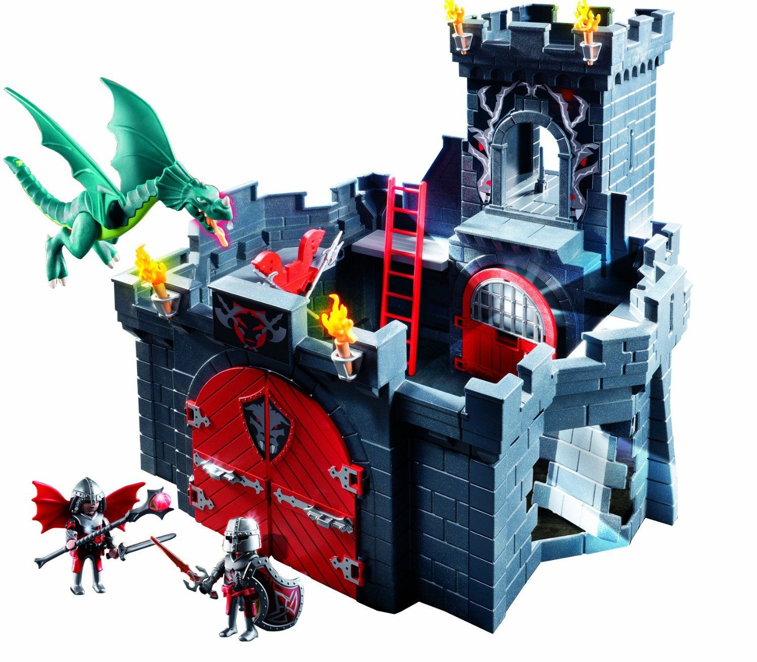 amazonsmile playmobil dragon knights castle toys games. Black Bedroom Furniture Sets. Home Design Ideas