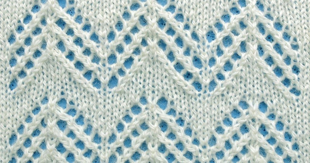 Knit Lace Simple Chevron This Pattern Is Worked In A Multiple Of 12
