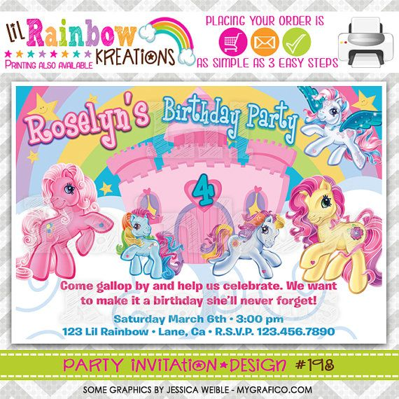 198 DIY My Little Pony Party Invitation Or by LilRbwKreations