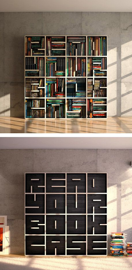 Read Your Bookcase book shelf / Saporiti Estanterías Pinterest - libreria diseo