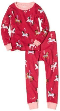 90aa582ca Hatley Girls 2-6x Merry Go Round Horses Polo Pajama Set
