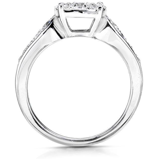 3/4 CT TDW Diamond 14K White Gold Engagement Ring