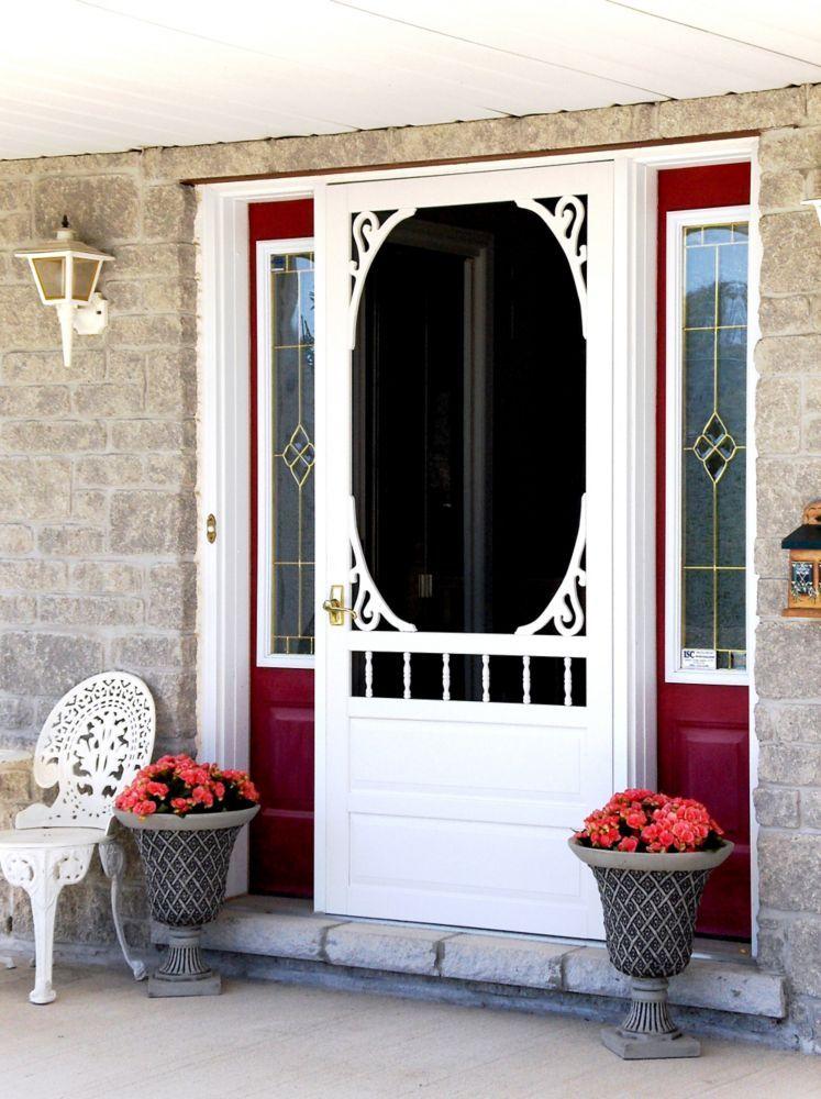 36 Inch X 80 Inch Glenwood Wood Screen Door Products Wood Screen Door Front Door With Screen Diy Screen Door