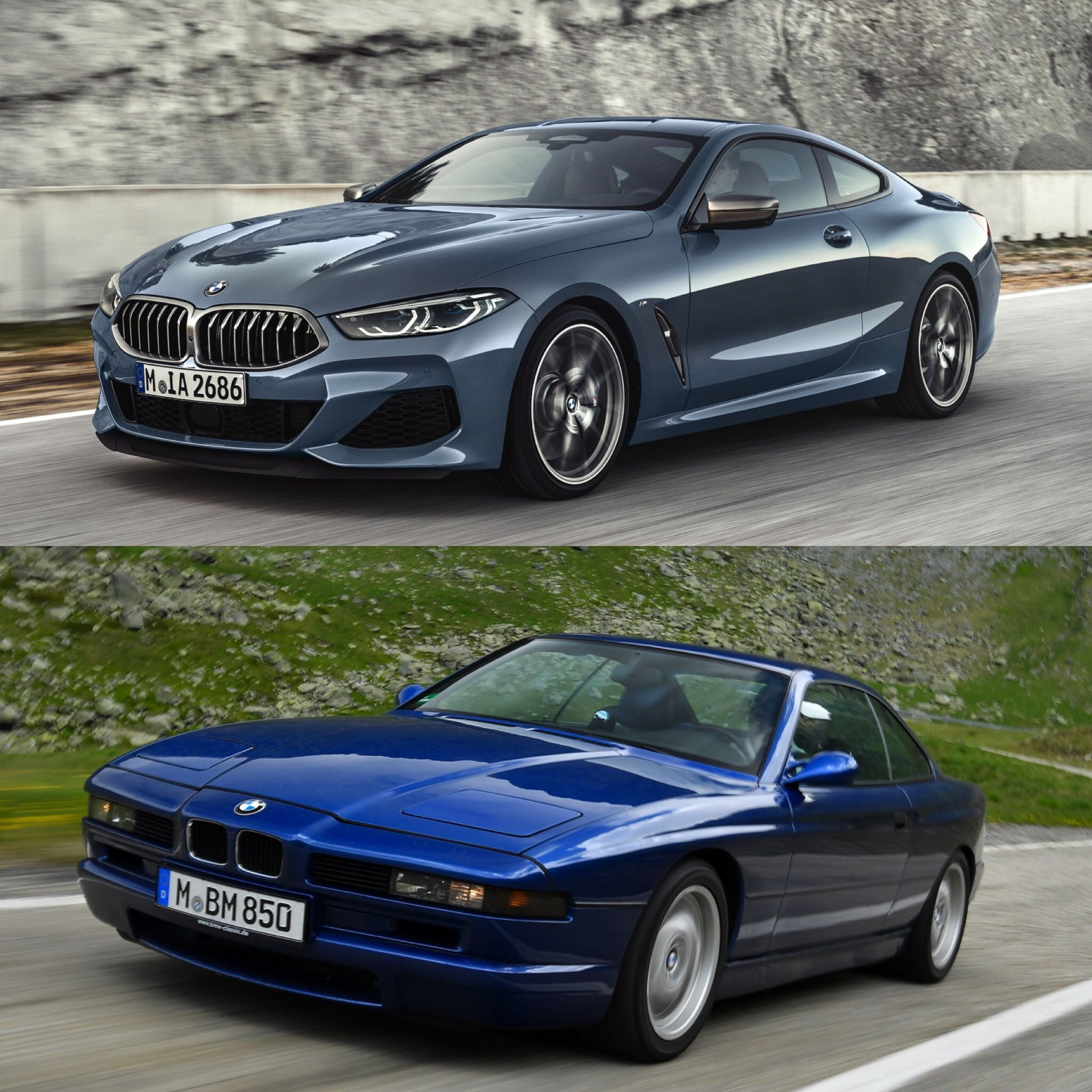 Photo Comparison Old Bmw 8 Series Vs New Bmw 8 Series Bmw New Bmw Bmw Series